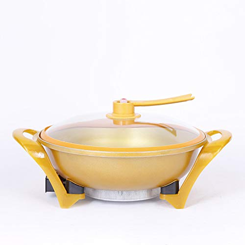 Gold Vacuum Energy Saving Round Treasure Pot Creative High-voltage Electric Wok Multi-function Electric Hot Pot by CPFLH