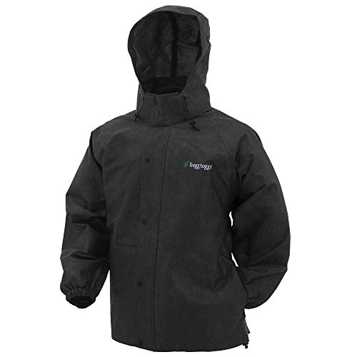 Frogg Toggs Pro Action Rain Jacket, Black, Size X-Large