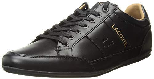 Lacoste Men's Chaymon Sneaker, Black, 9 Medium US (9 Shoes Lacoste Black)