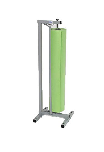 Single Paper Roll Vertical Paper Dispenser/ Cutter 36'' For 30, 36'' - Bulman R996-36 - No Casters by Miller Supply Inc. (Image #1)