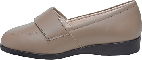 Cosyfeet Carmen Shoes - Extra Roomy (Eeeee+ Width Fitting) Taupe Leather DEcJc