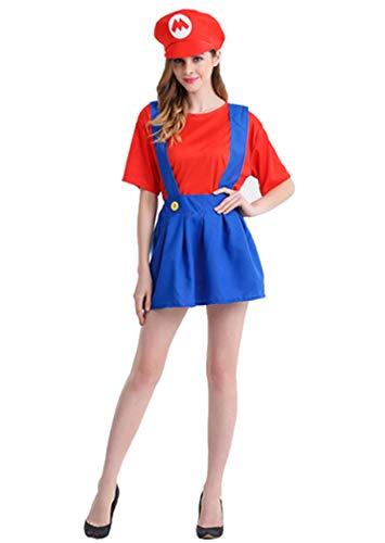 Super Mario Luigi Bros Cosplay Fancy Dress Outfit Costume Unisex Mens Women Adult Kids -