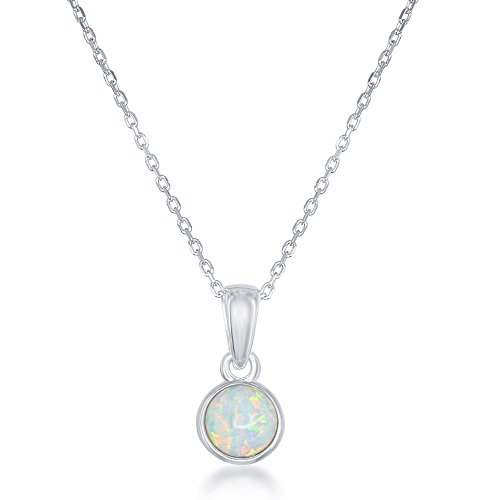 Sterling Silver Birthstone Bezel set Pendant product image