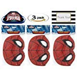 (Spiderman Party Mask, 8 ct (Three Pack))