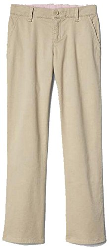 (GAP Kids Girls Khaki School Uniform Classic Chinos Pants 14 Slim )