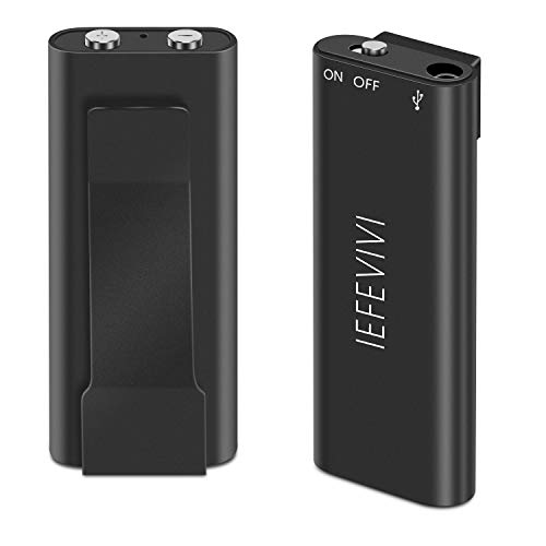 IEFEVIVI Voice Activated Recorder - Digital Voice Recorder for Lectures, 8G Digital Recorder with MP3 Play 96 Hours Recording Capacity, Small Size Audio Recorder for Lecture Interview Meeting Class