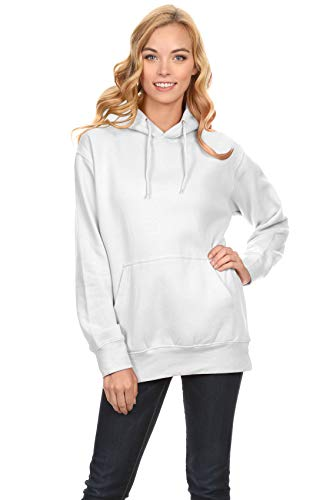White Pullover Hoodie, White Sweater, White Hoody, White Sweatshirts for Women, White, XXX-Large (Sweatshirt Team Hoody Color)