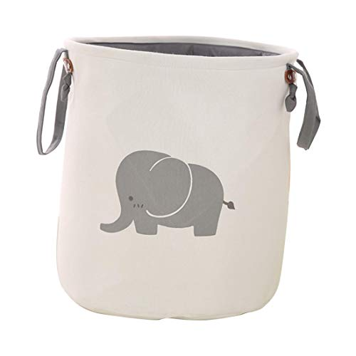 Foldable Laundry Hamper Nursery Storage Baskets Organizers for Toy Collection & Clothing Storage - Elephant by HBOS
