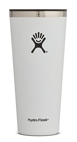 (Hydro Flask 32 oz Double Wall Vacuum Insulated Stainless Steel Travel Tumbler Cup with BPA Free Press-In Lid, White)
