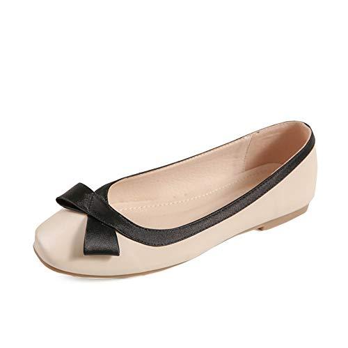 FLYRCX Los Zapatos de Trabajo de Las Mujeres Forman Zapatos Planos cómodos de la Boca Baja Zapatos Antideslizantes de la Parte Inferior Suaves Bailan los Zapatos, 38 UE 38 EU