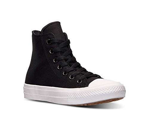 Finish 00 - Converse Women's Chuck Taylor All Star II Hi Casual Sneakers from Finish Line Size 8 Black/Black/White