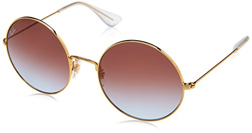 Ray-Ban Women's Ja-Jo Round Sunglasses, Gold, 55 - Street Ray Ban