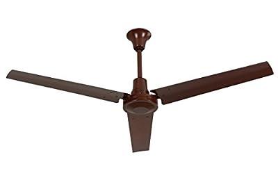 "VES 60"" Ceiling Fan, Forward/reverse, 18"" Downrod, 120v, Brown"