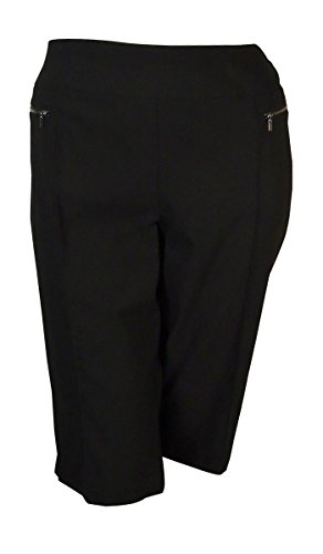 UPC 608381220361, Style Co. Deep Black Plus Size Pull-On Capri Pants 24W