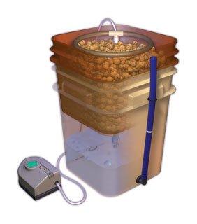 General Hydroponics Waterfarm Complete Hydroponic System Grow Kit |...