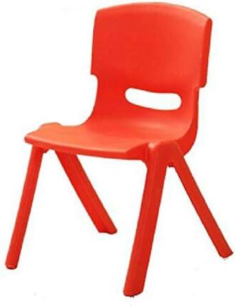 no brand WWTTE DAHIUHA de la Hauteur du siège de sécurité Thicken Kindergarten Chaise Enfant Petit Tabouret Chaise Dossier (Bleu) / (Color : Purple) Red