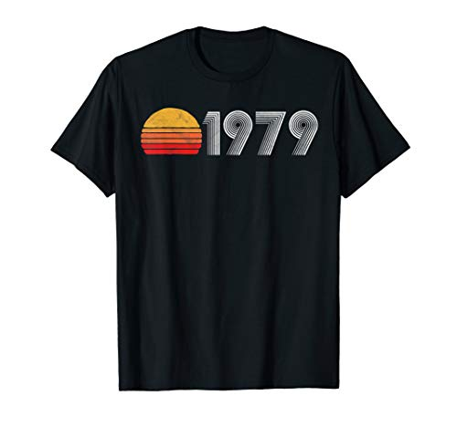 - Vintage 1979 40th Birthday Gift Throwback 80's Sun Graphic T-Shirt