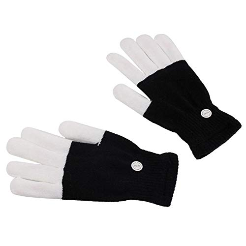 LED Glowing Gloves Fiber Optic Light-emitting Gloves Stage Performance Gloves Halloween Gloves For Party ()