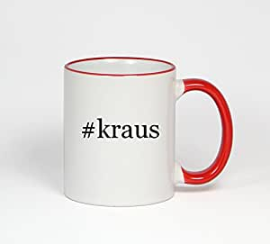 #kraus - Funny Hashtag 11oz Red Handle Coffee Mug Cup