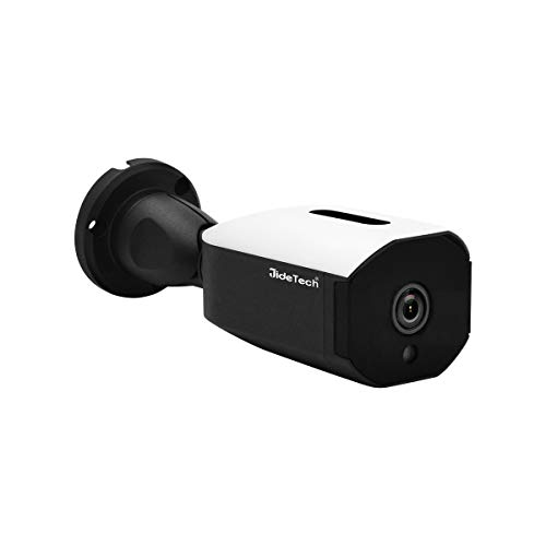 IP POE Security HD 2592×1944 Bullet Camera Indoor Outdoor H.265 5MP Waterproof Surveillance Support IR Night Vision SD Card Slot and ONVIF Protocol