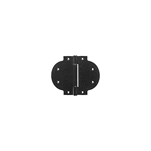 National Hardware N109-026 5-11/32 X 6-7/16 Black Arched Heavy T-Hinge