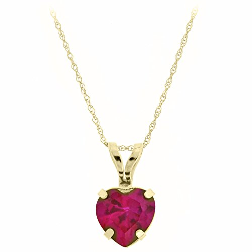 90-CT-Heart-6MM-Red-Ruby-Pendant-18-10K-Yellow-Gold-Filled-Chain