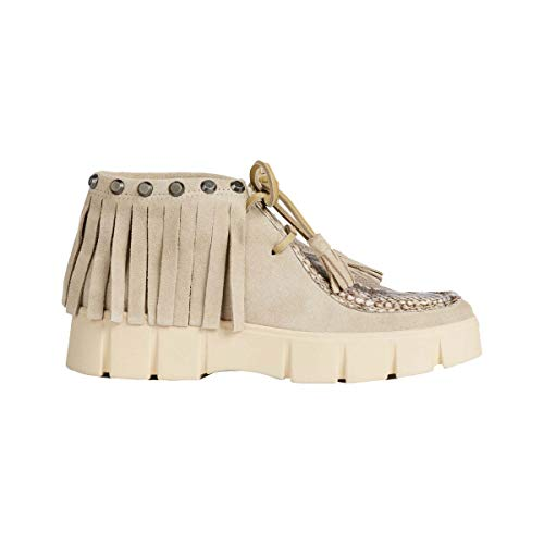 Para A Ghoula Zapatos Taupe Ch62d Cordones Beige lt Geox De Derby D curry Mujer gwAEq46Wn0