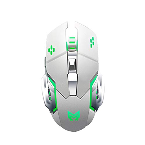 CHUNKUNA Rechargeable Wireless Gaming Mouse With USB Receiver 4 Color Variations (Silver) (Microsoft Wireless Keyboard And Mouse Dongle Lost)