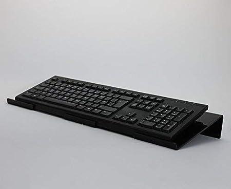 Gran Ángulo ergonómico ordenador teclado soporte acrílico teclado reposamuñecas, color negro