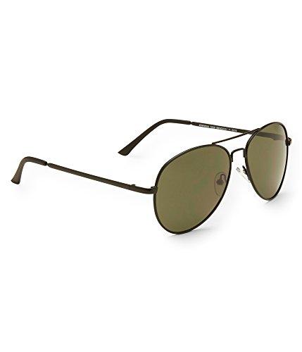 Aeropostale Men's Solid Aviator Sunglasses Black - Aeropostale Sunglasses
