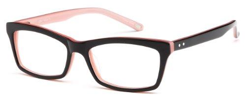 Womens Glasses Frames Black Prescription Eyeglasses Rxable 51-16-135