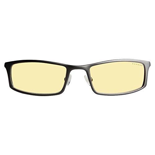 GUNNAR Gaming and Computer Eyewear/Phenom, Amber Tint - Patented Lens, Reduce Digital Eye Strain, Block 65% of Harmful Blue Light