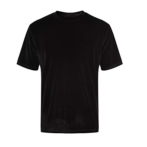 TOPUNDER Men Women Unisex Short Sleeve T-Shirt Crew Neck Tops Tee Shirts Streetwear Black -