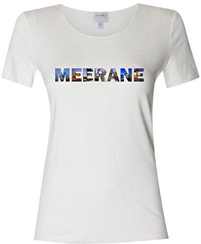Pema T-Shirt mit farbigem Brustaufdruck Damen mit Städtenamen Meerane Gr.XS