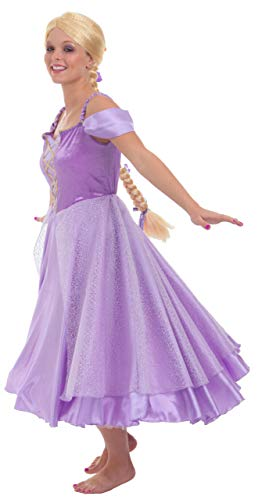 Princess Paradise Women's Tower Princess Deluxe Costume Dress, Purple, Small ()