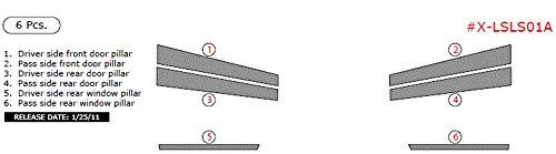 Car Exterior Overlay Kit By WOW Trim, Item# X-LSLS01A-RCF Lexus LS, Exterior Kit, 6 Piece Set, Real Carbon Fiber