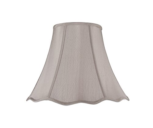 Aspen Creative 34008 Transitional Scallop Bell Shape Spider Construction Lamp Shade in Taupe, 12