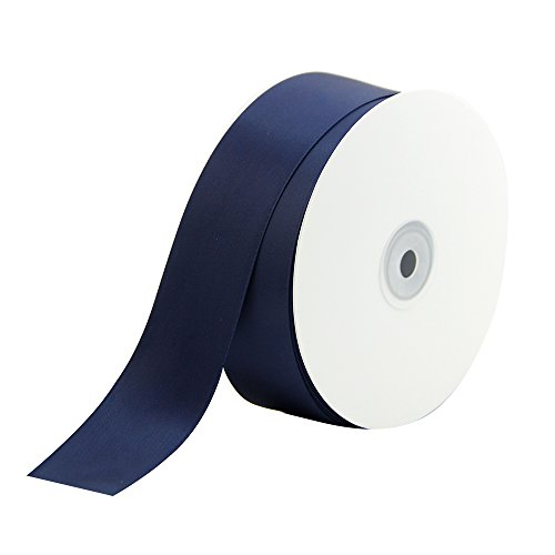 VATIN 1 1/2 inch Wide Double Face Polyester Satin Ribbon Perfect for Wedding, Gift Wrapping- 50 Yard ( Navy Blue ) by VATIN