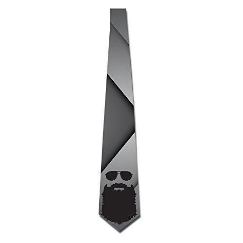 Men's Beard Glasses Skinny Tie Necktie Ties