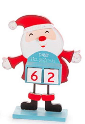 DG Shopping Spree Christmas Countdown Santa Table Top Décor (Countdown Christmas Shopping)