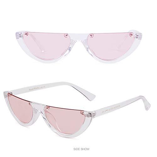 Clout Goggles Half Frame Sunglasses Cat Eye Vintage Mod Style Retro Kurt Cobain Sun Glasses (Transparent/Pink, ()