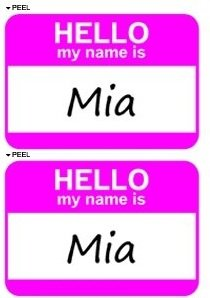 Hello My Name Is Mia