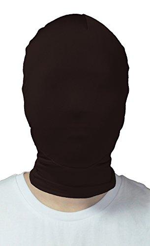 All Black Mask (VSVO Adults Black Full Cover 2nd Skin Mask (Adults,)