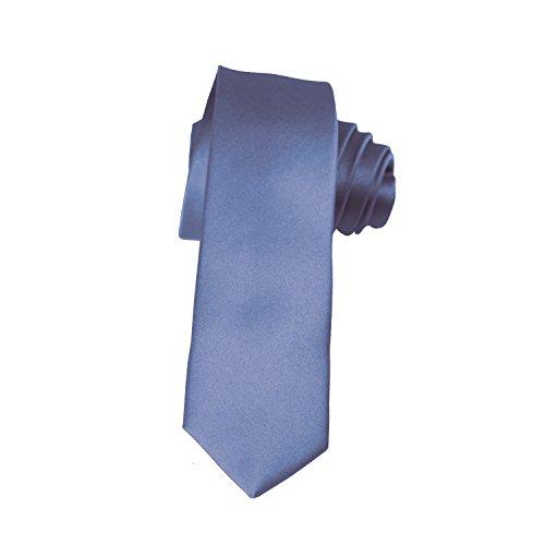 steel blue ties for men - 8