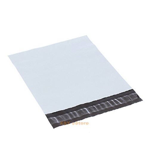 100 White Small Poly Envelopes Mailing Bags 4.3' x 7'_110 x 180+45mm