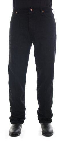 Wrangler Men's 13MWZ Cowboy Cut Original Fit Jean, Shadow Black, 42W x 30L ()