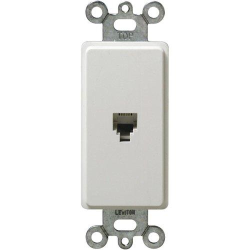 Telephone Jack Wall Leviton (Leviton 40649-W 6P4C Screw Terminals, Decora Insert, White)