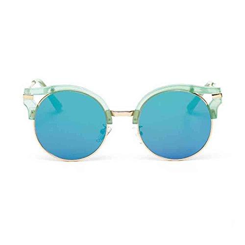 HD Green Color Gafas Huecas delicadas HD Película de UV Honey Sunny Sol HD de Color Sol Gafas Green de Anti BTqTawU