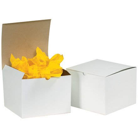 Box Partners 17  X 8 1 2  X 8 1 2  White Gift Boxes  Gb1788 Bp  Category  Chipboard Boxes