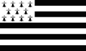 BRITTANY  FLAG 2/' x 3/' FRENCH REGION OF BRETAGNE FLAGS 60 x 90 cm BANNER 2x3